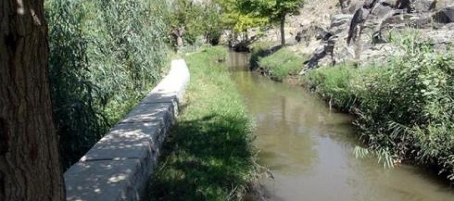 Paktika's newly constructed water dam and canal