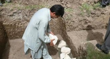 Foundation stone-laying ceremony of a blood bank clinic in Western Afghanistan