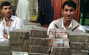 Afghan high officials link currency fall to false rumors