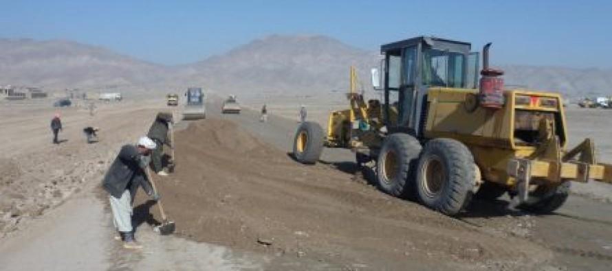 Reconstruction of a 14-km road in Jawzjan