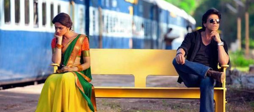 CHENNAI EXPRESS new still: Did Shahrukh Khan and Deepika Padukone have a lovers' tiff?