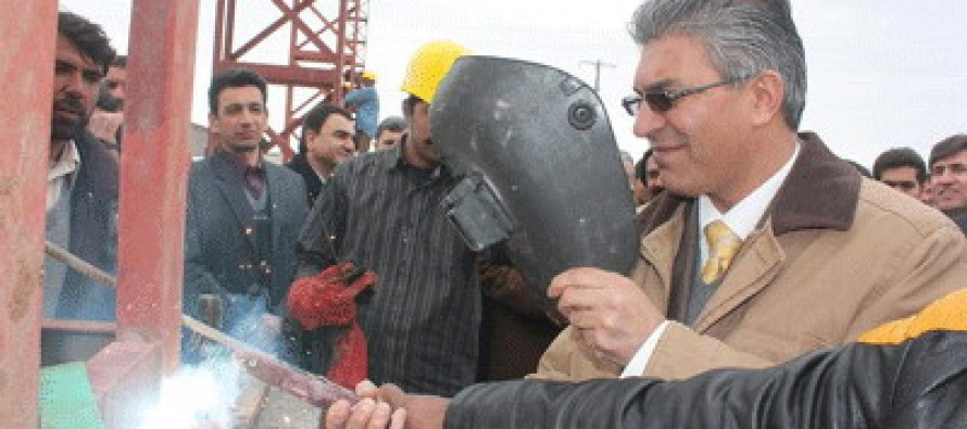 The second phase of Afghanistan's steel factory inaugurated