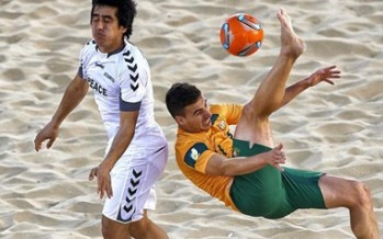 Afghanistan out of the Beach Football World Cup