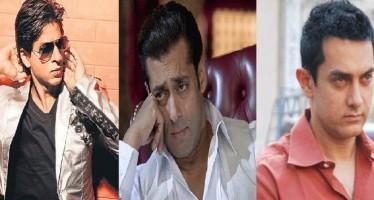 Shahrukh Khan beats Salman Khan and Aamir Khan