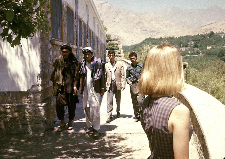Peg Podlich and Afghans.