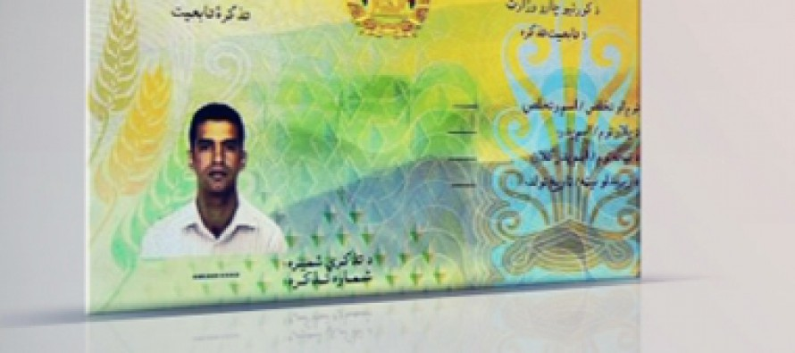 Afghanistan's electronic ID card distribution to begin next month