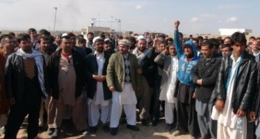 Afghan traders protest at Sher Khan dry port