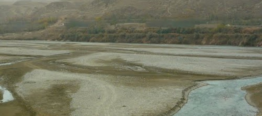 Work begins on the construction of Taluqan River's embankments