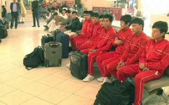 Afghan Youth Football Team participates in 2014 Youth World Cup Qualifier