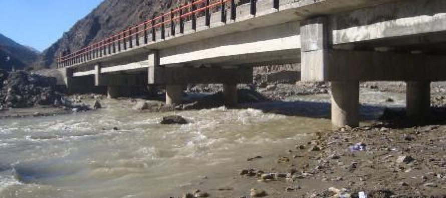 Largest bridge built over Ghorband River in Parwan Province