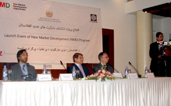 WB funds the New Market Development Program in Afghanistan