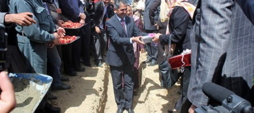 Foundation stone laying ceremony of a public hospital held in Bamyan