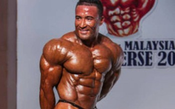 Afghan athlete wins bronze medal in Europe bodybuilding championship