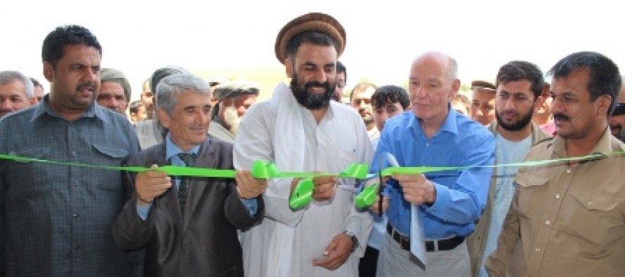 Food storage facility inaugurated in Charbolak district of Balkh Province