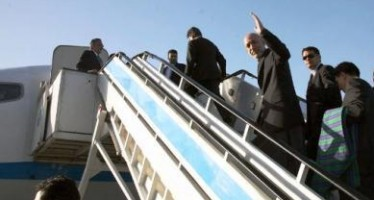 President Karzai heads for Turkmenistan to attend railway project ceremony