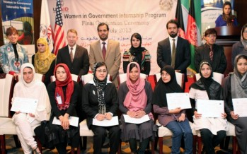 Sixty Afghan Women Graduate From Women In Government Internship Program