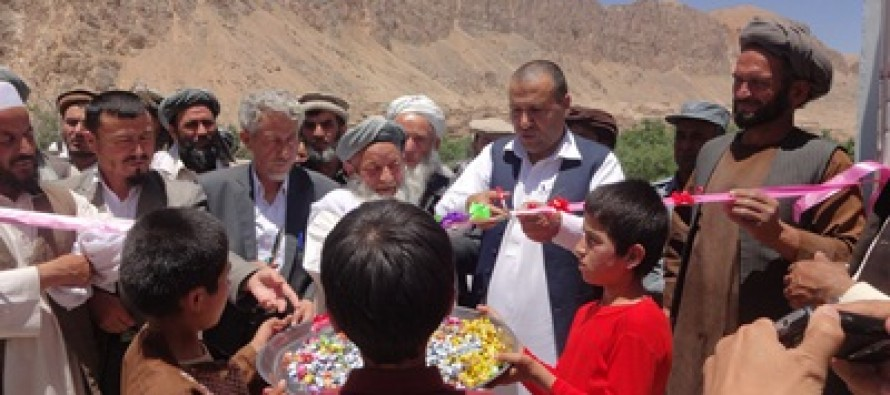 SCA constructed health clinic and school in Samangan and Kunar provinces