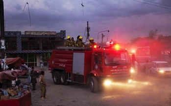 Fire sweeps through a multi-story market in Mazar-e-Sharif