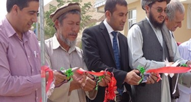 A new building for a health clinic opened in Takhar province
