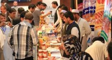 Food items showcased in Herat province