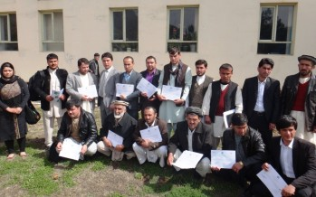 Badakhshan agriculture district departments learn how to support farmers in the province