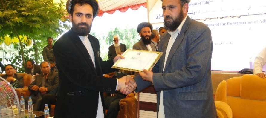 Education construction projects begin in Baghlan with German financing and support
