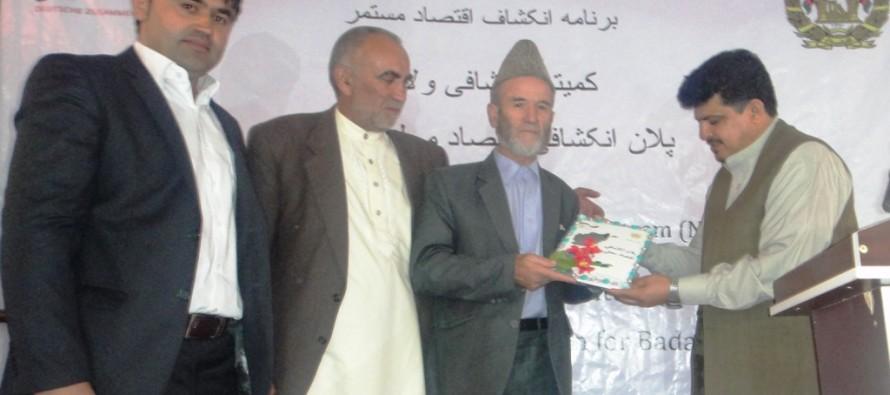 Regional Economic Development Plan for Badakhshan province launched