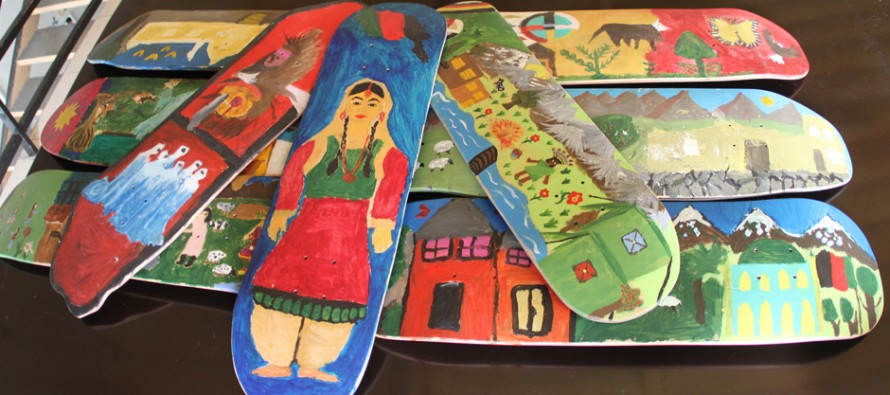 First skateboards ever made in Afghanistan
