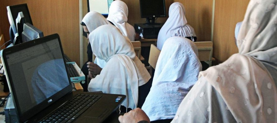 Computer lab established for Afghan girls High School in Khoshi District