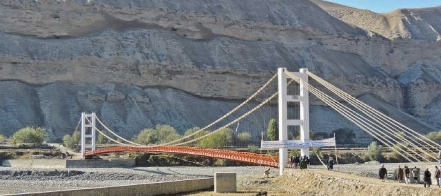 Takhar's new Bangi river suspension bridge connects 15,000 people with district centre