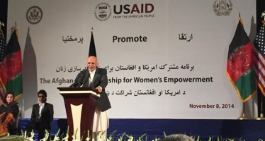 MoU on Afghan women empowerment program signed between President Ghani and USAID