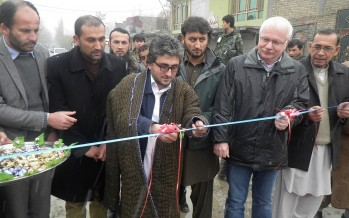 Construction of important side ditches starts in Taluqan with German funding
