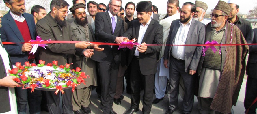 Five roads in Kunduz city rehabilitated with German funds