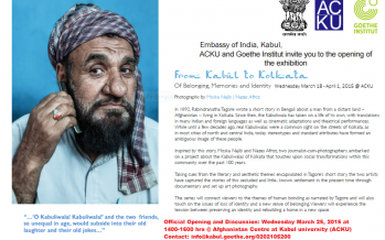 """Kabul to Kolkata"" Of Belonging, Memories and Identity Photography Exhibition"