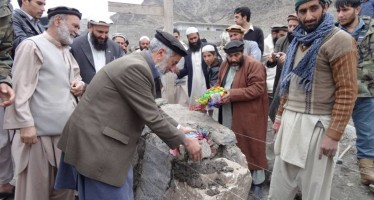 Construction of a welfare project begins in Kunar province