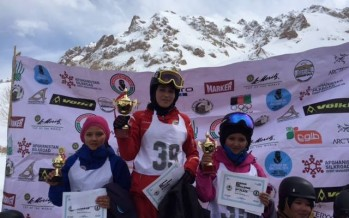 Afghan women ski championship ended on Sunday
