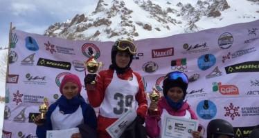 Afghan women ski championship ended on Sunday