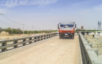 A new bridge connecting 16 villages to district centre opens in Khulm, Balkh