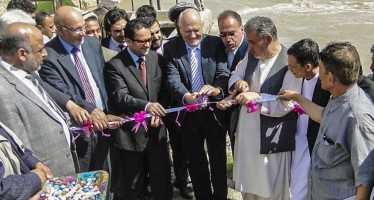 Improved irrigation and flood protection for farmland in Baghlan
