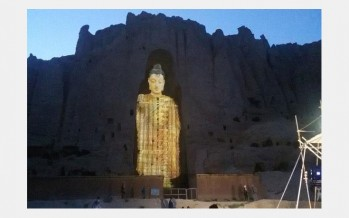 Bamiyan Buddhas of Afghanistan rebuilt with light