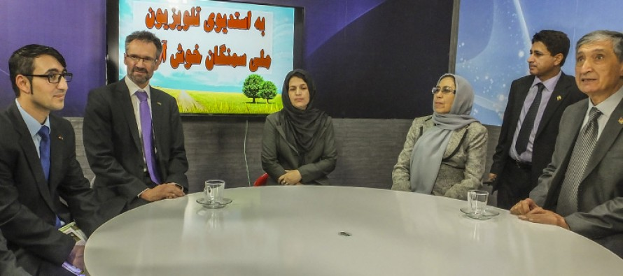 "Samangan local radio and TV goes ""on air"" in brand new studio financed by Germany"