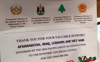 Afghanistan becomes member of the UN Economic and Social Council