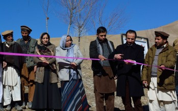 Flood protection facilities provided to villages in Badakhshan