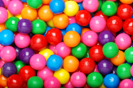 6. Each year approximately half of billions dollars is spent on bubble gum by the kids in North America.