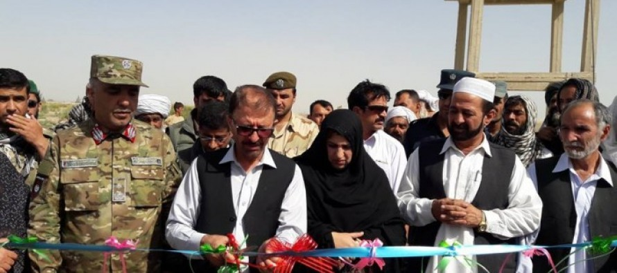 Work on construction of water distribution network launched in Nimroz
