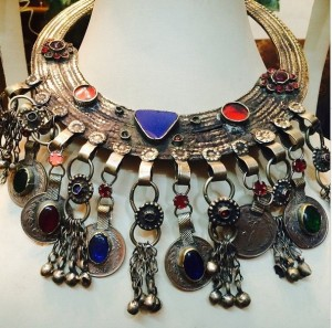 Afghan businesses showcase jewelry at a fair in New Delhi
