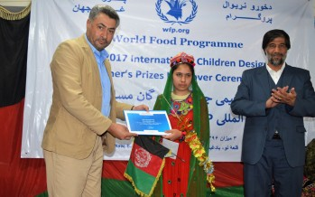Young Afghan girl wins prize in international WFP Children's Design Competition
