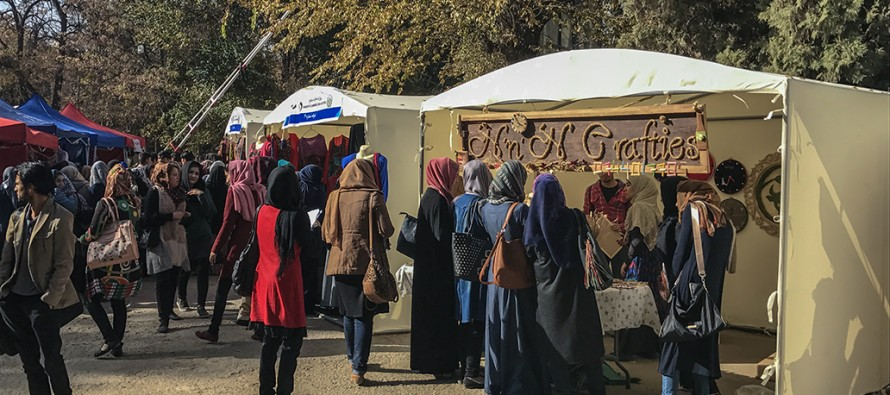 """Women Weekend Market"" kicks off in Kabul University"