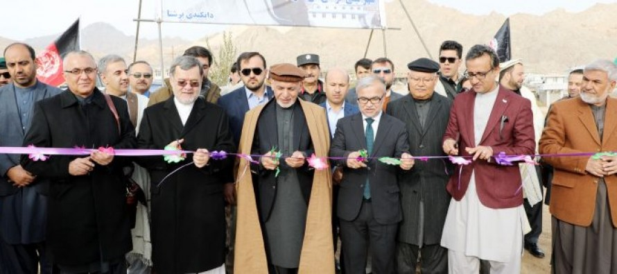 Ghani Inaugurates 4 Major Development Projects In Daikundi