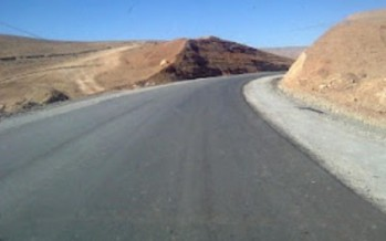 Taloqan road being asphalted at a cost of more than USD 2mn